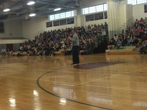 Herren presenting in front of the juniors and seniors