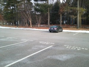 After seniors leave on internship, the parking spaces are open and tempting for underclasmmen.